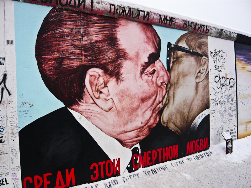 Brezhnev & Honecker, Berlin Wall, East Side Gallery, 2009.